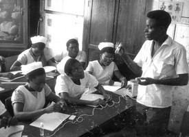 A class in a nursing school